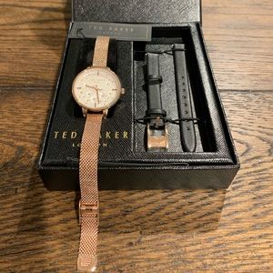 """NWT """"Ted Baker /London"""" Mesh Strap Watch Set!"""